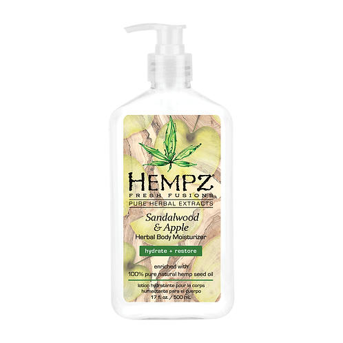 Hempz Sandalwood & Apple Herbal Body Moisturizer 17 oz