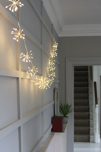 Starburst Chain (Silver) Mains Operated