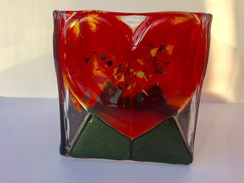 Red Heart Candle Box