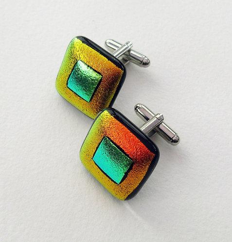 Fused Glass Cufflinks