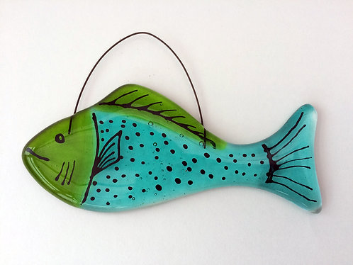 Little Hanging Blue & Green Fish
