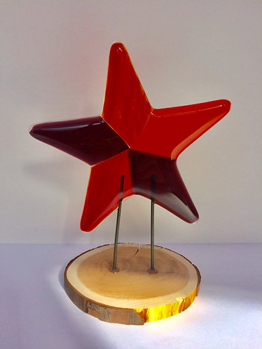 Orange/Purple Standing Star