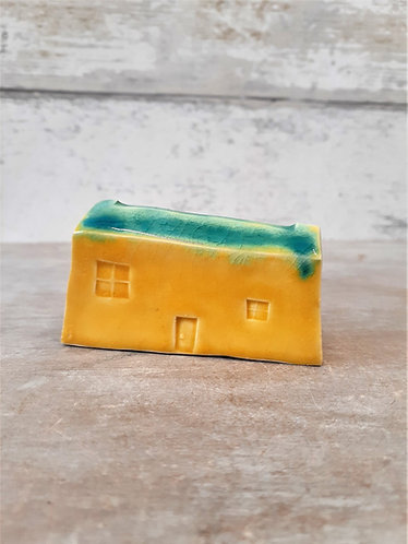 Ceri White Ceramics - Wee House Yellow