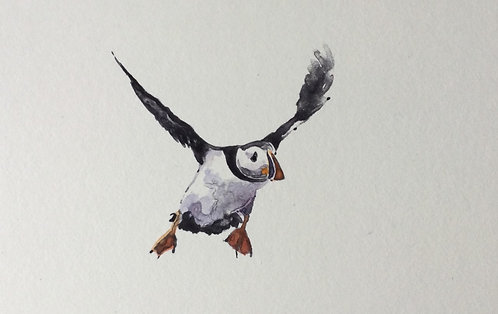 Greg Moore - Puffin 2, unframed Monoprint