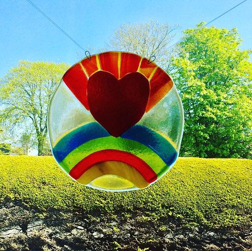 Heart & Rainbow Panel