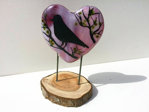 Purple BlackBird Heart