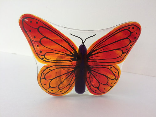 Red/Orange Butterfly T-Light Holder