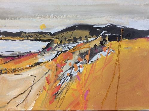 Hazel Campbell - Orange Landscape