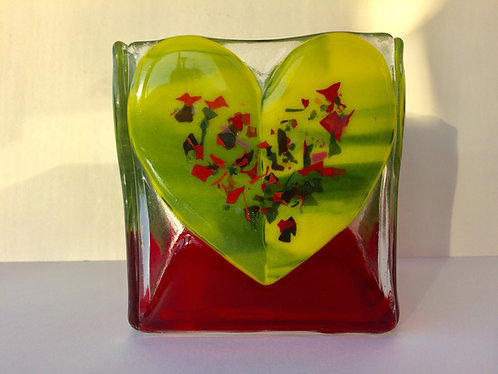 Green Heart Candle Box