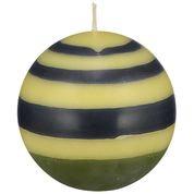 Olive, Indigo & Jasmine Large Striped Ball Candle
