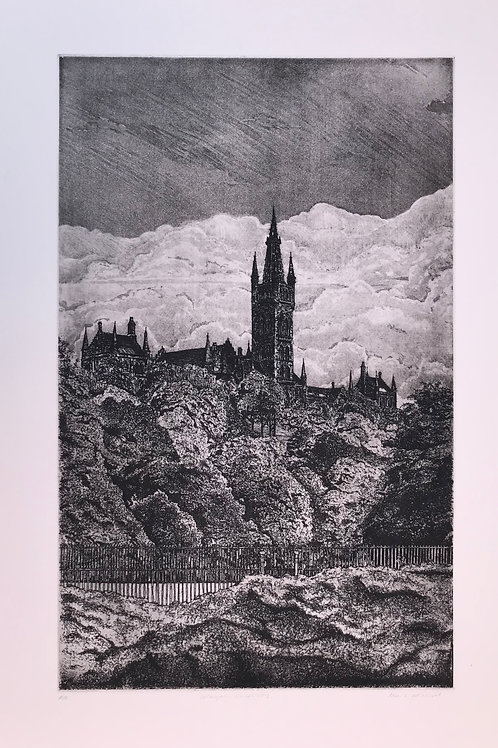 Glasgow University Etching