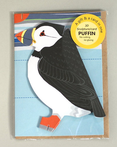 Pop Up 3d Card - Puffin