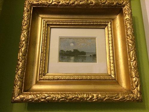 Coastal Moonlit Seascape, 1875, James Cassie RSA RSW (1819-1879)