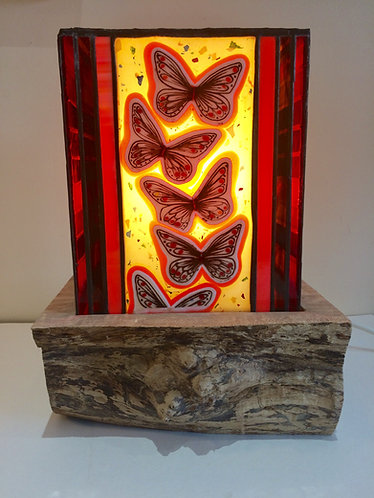 Butterfly Electric Table Lamp (shade & base)
