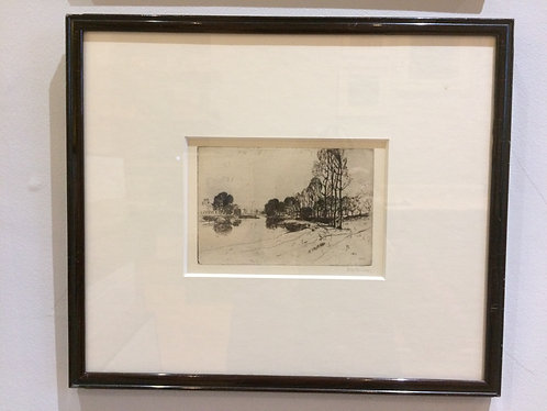 The Lea, near Ware, Sir D Y Cameron RA, RSA, RWS, RSW RE (1865-1945)
