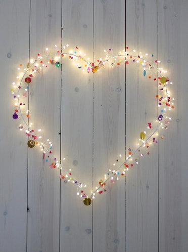 Folklore Heart Lights, 40cm Diam