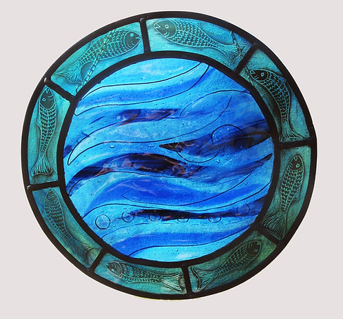 Calm Waters Stained Glass Panel