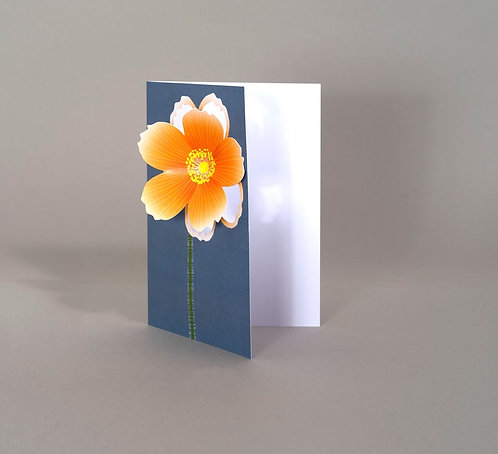 Pop Up 3d Card - Orange Flower