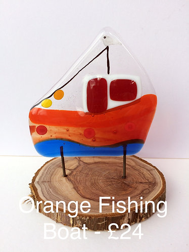 Orange Fishing Boat