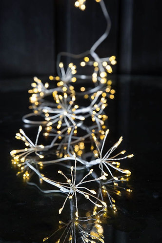 Starburst Chain (Silver) Battery Operated