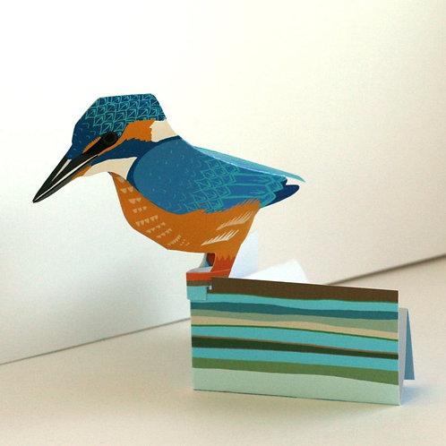 Pop Up 3d Card - Kingfisher