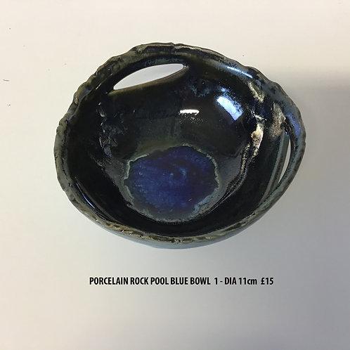 Margaret MacDonald Porcelain Blue Rock Pool Bowl 1