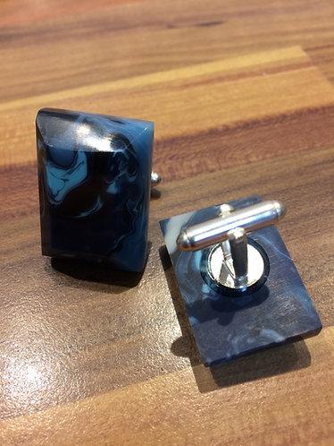 Blue Resin Cufflinks