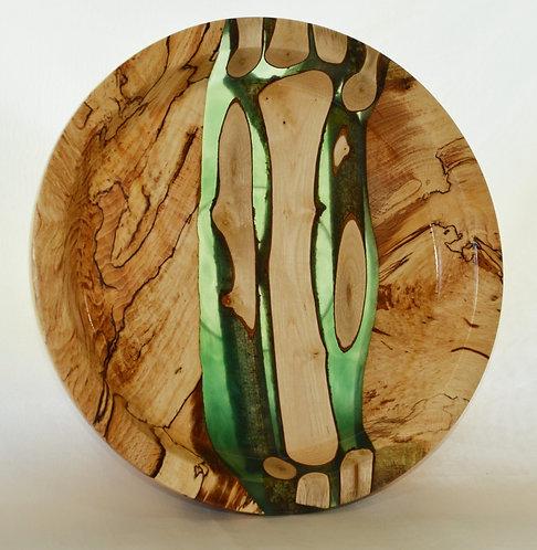 Moorholm Woodcraft Wood & Green Resin Bowl