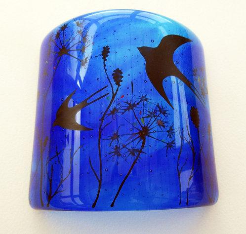 Fused Glass Swift Blue