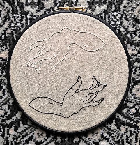 Gem Travers - Caress I, Embroidery on 238gsm Linen