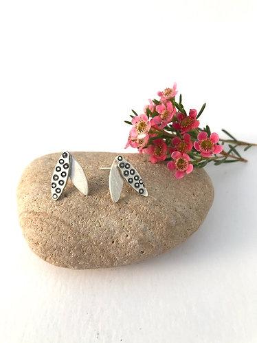 Ann Hume - Textured Leaf Stud Earrings