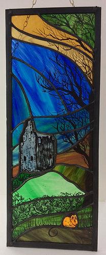 Greenan Castle - Copper foil & Lead Window Panel