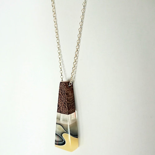 Just Beee - Coffee & Cream Triangle Pendant