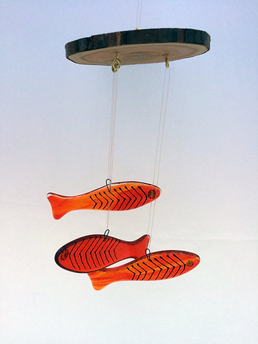 Red/Yellow Fish Mobile
