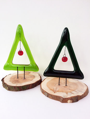 Standing Xmas Tree with Red Bauble