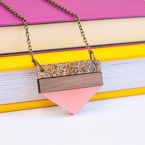Twiggd - Point Necklace Pink