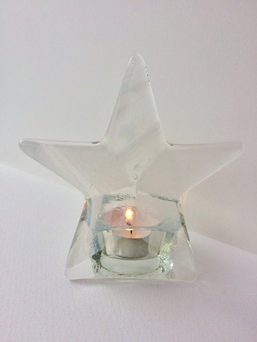 White Star T-Light Candle Holder