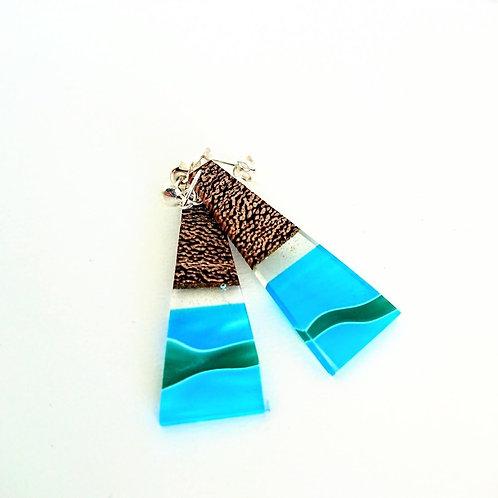 Just Beee - Ocean Wave Triangle Earrings