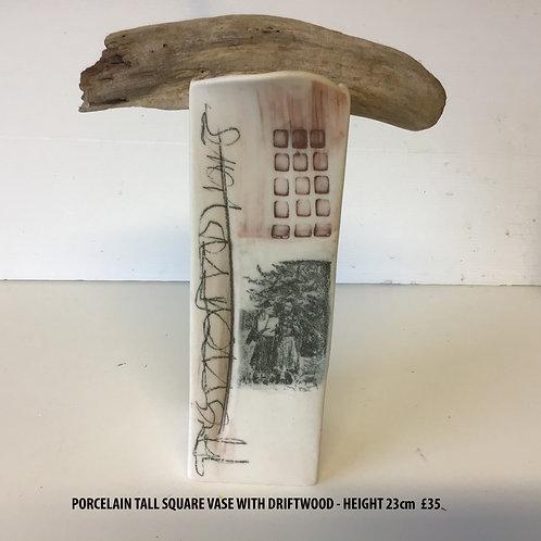 Margaret MacDonald Porcelain Vase with Driftwood