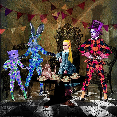 Ashley Cook - The Mad Hatters Tea Party Digital Print