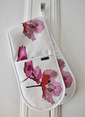 Jenny Hunter - Oven Gloves, Red Poppies