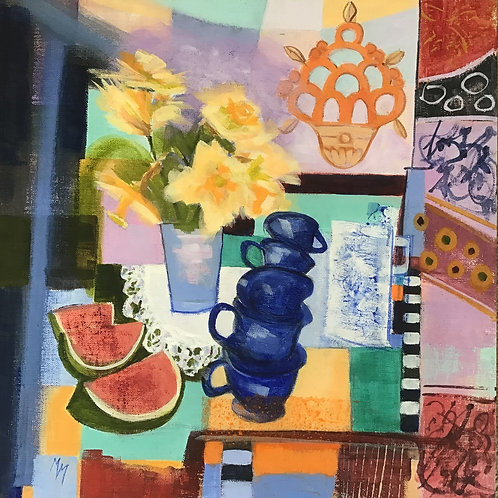Margaret MacDonald - Still Life with Watermelon