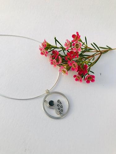Ann Hume - Circular Silver Botanical Pendant