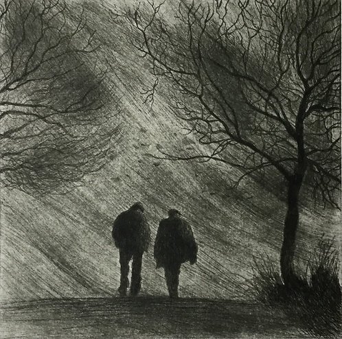 Greg Moore - Company, Drypoint Etching
