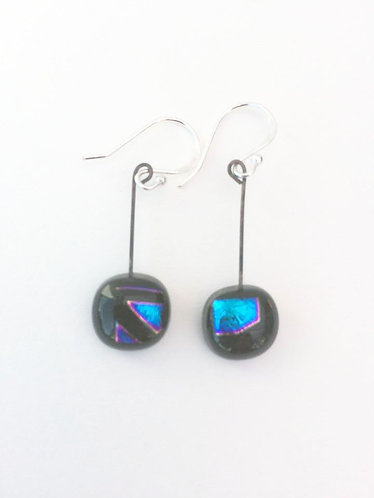 Small Square Hanging Earrings