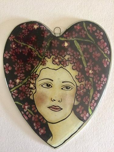May Cherry Blossom Heart Girl
