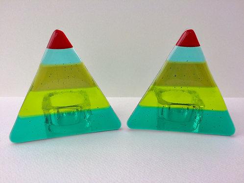 Xmas Triangle T-Light Holder