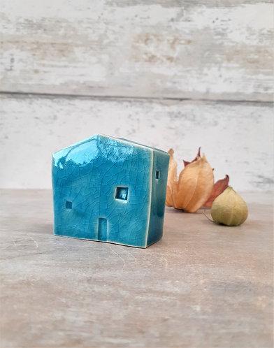 Ceri White Ceramics - Wee House Turquoise