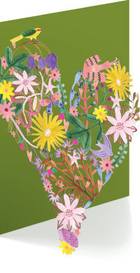 Floral Heart Lasercut Greeting Card