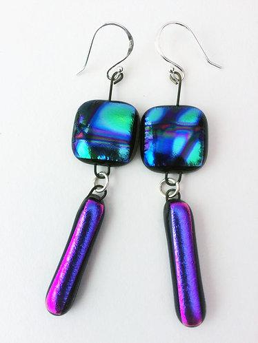 2 Drop Hanging Earrings